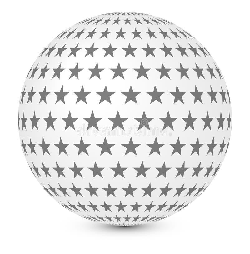 Kugel mit Sternen vektor abbildung