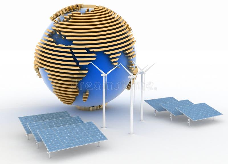 Alternative Energie-Konzept stock abbildung