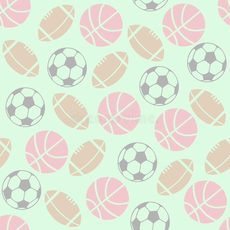 Kugel-Spiel-Hintergrund stock abbildung