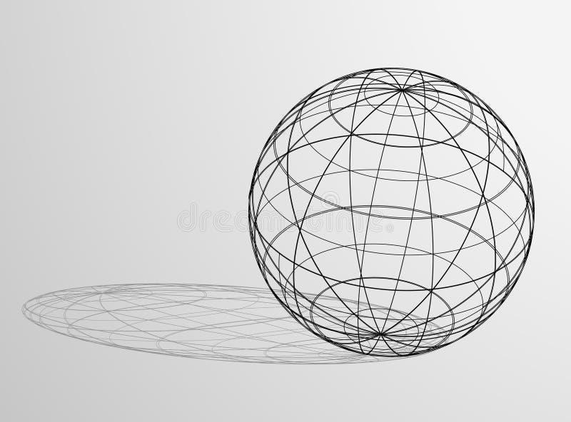 Kugel und Schatten vektor abbildung