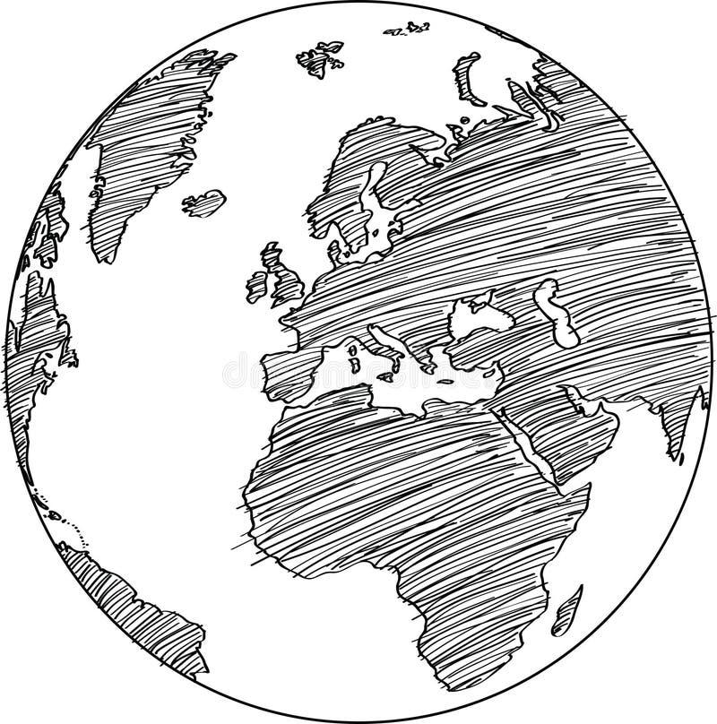 Kugel-Vektor-Linie skizzierte herauf Illustrator vektor abbildung