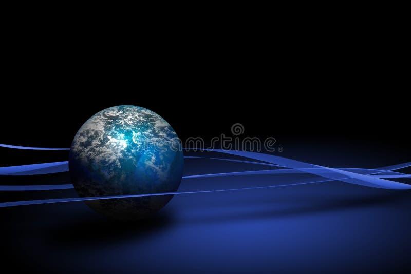 Kugel von Erde stock abbildung