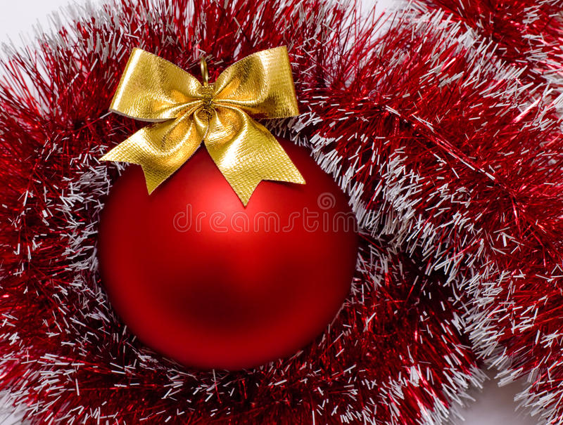 Kugel-Weihnachtsrot stockbilder