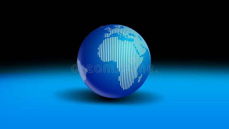 Kugel-Welt lizenzfreie abbildung