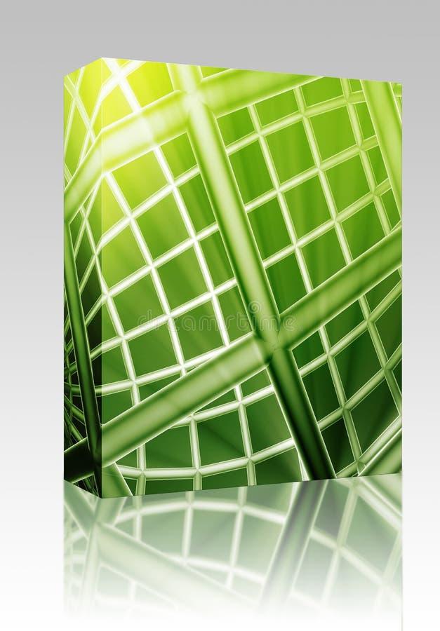 Kugel wireframe Auszugs-Kastenpaket stock abbildung