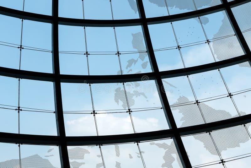 Kugelglasfensterfeld lizenzfreie stockfotografie