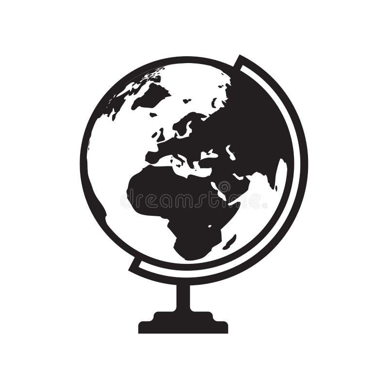 Kugelikone mit Asien, Afrika und Europa zeichnen auf - vector illustrati vektor abbildung
