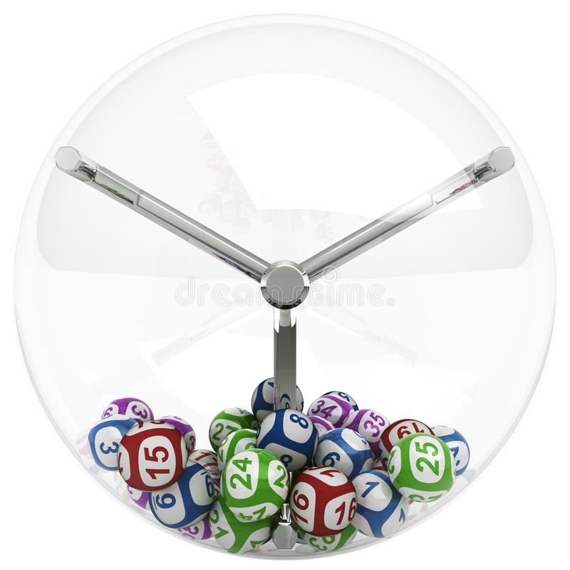Kugeln in der Lotteriemaschine vektor abbildung