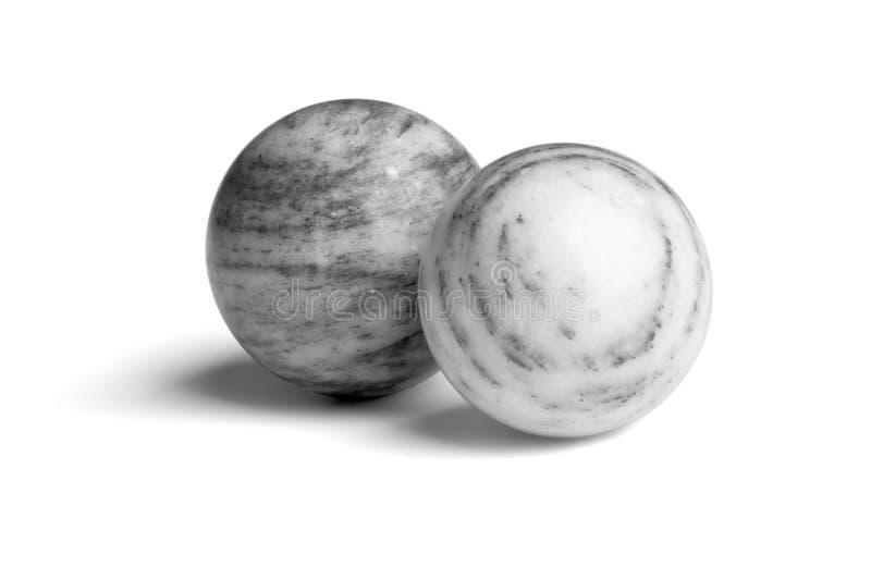 Kugeln des grauen Marmors lizenzfreies stockbild
