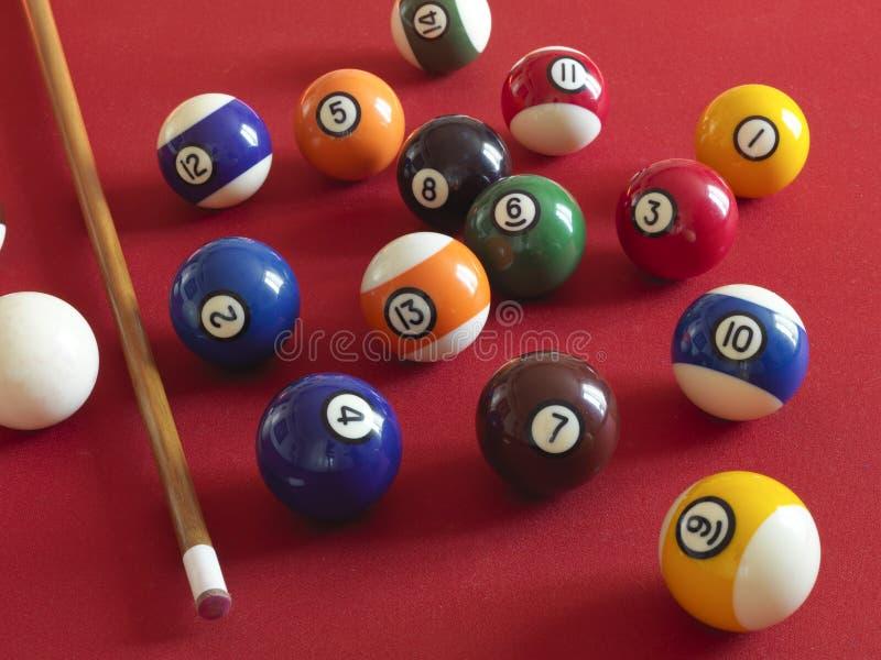 Kugeln für Billiard stockbild