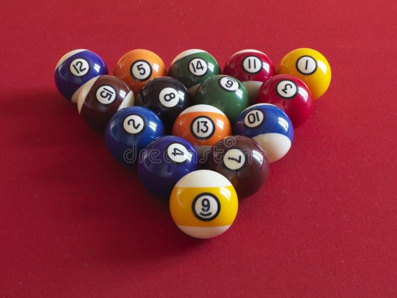 Kugeln für Billiard stockfotografie