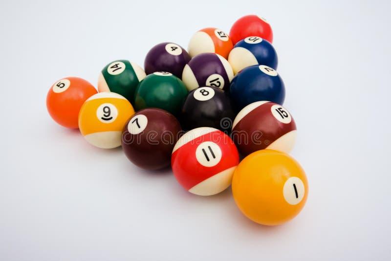 Kugeln für Spiel in den Billiarden lizenzfreie stockfotos