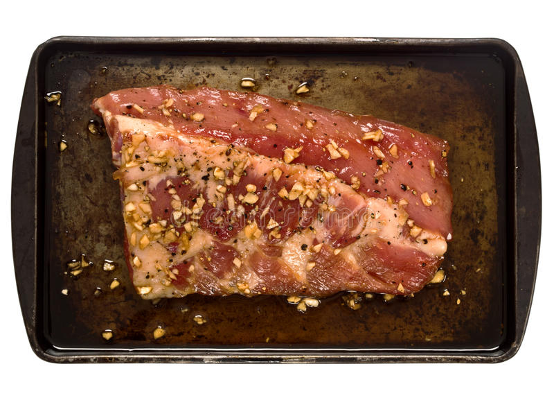 Kugge av det lantliga rå marinerade grisköttstödet arkivfoton