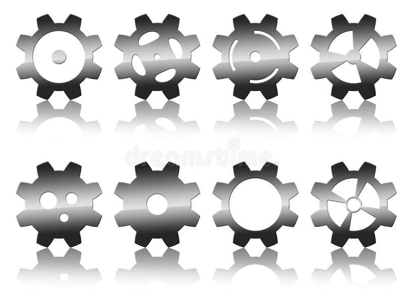 kuggehjul royaltyfri illustrationer