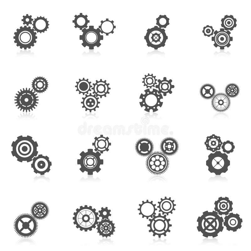 Kuggehjulsymbol royaltyfri illustrationer