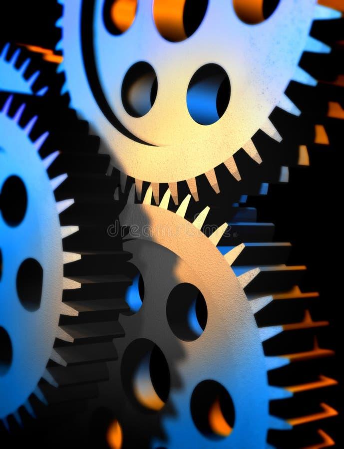 kugghjul vektor illustrationer