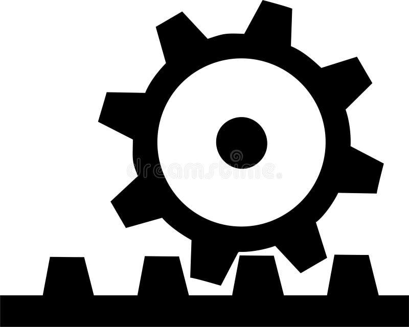 kugghjul 3 vektor illustrationer