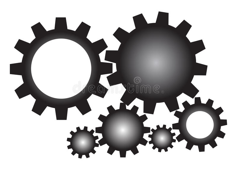 Kugghjul stock illustrationer