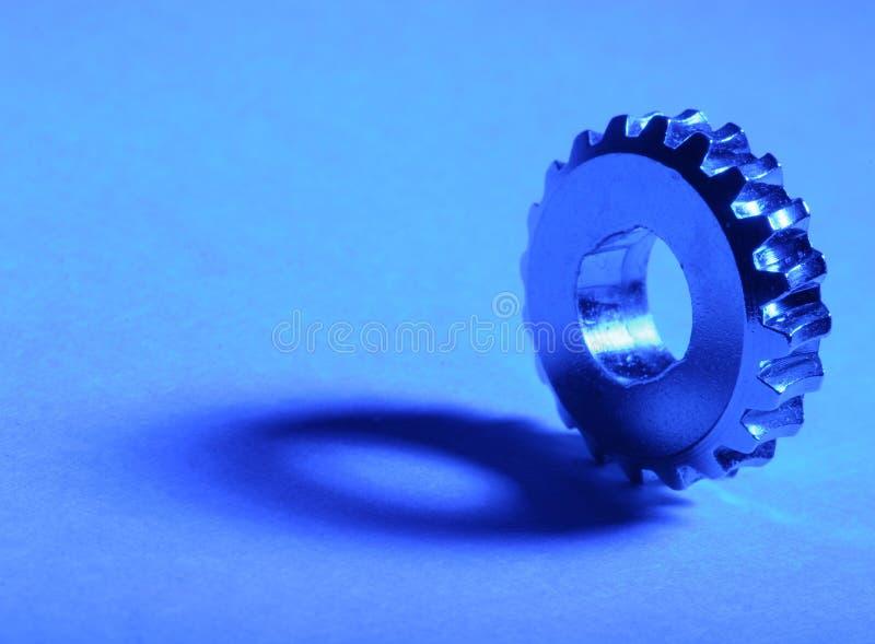 kugghjul för 3 blue royaltyfri foto
