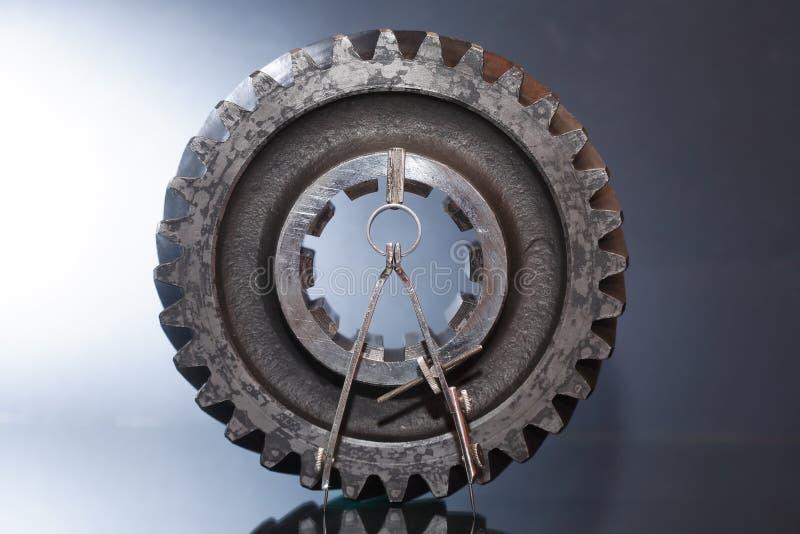 Kugghjul och avdelare arkivfoton