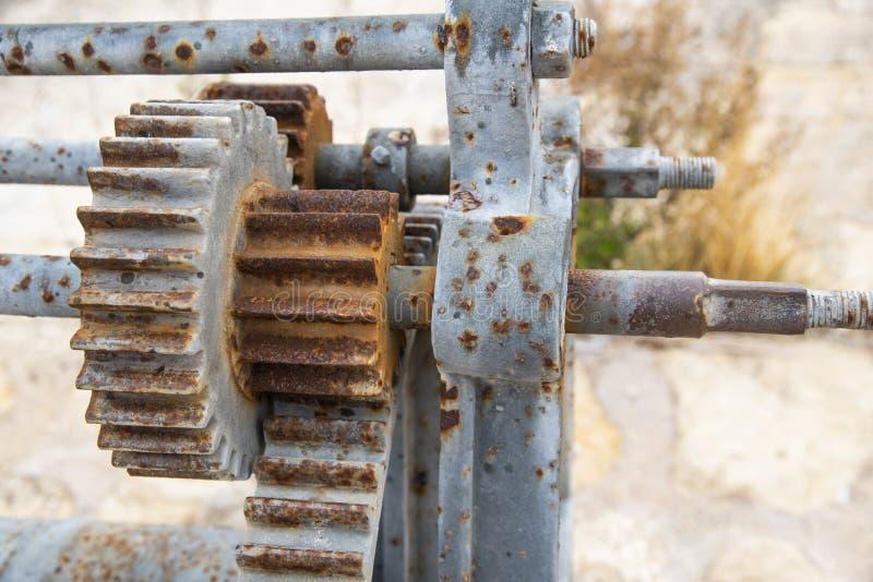 Kugghjul och industriellt maskineri arkivbild