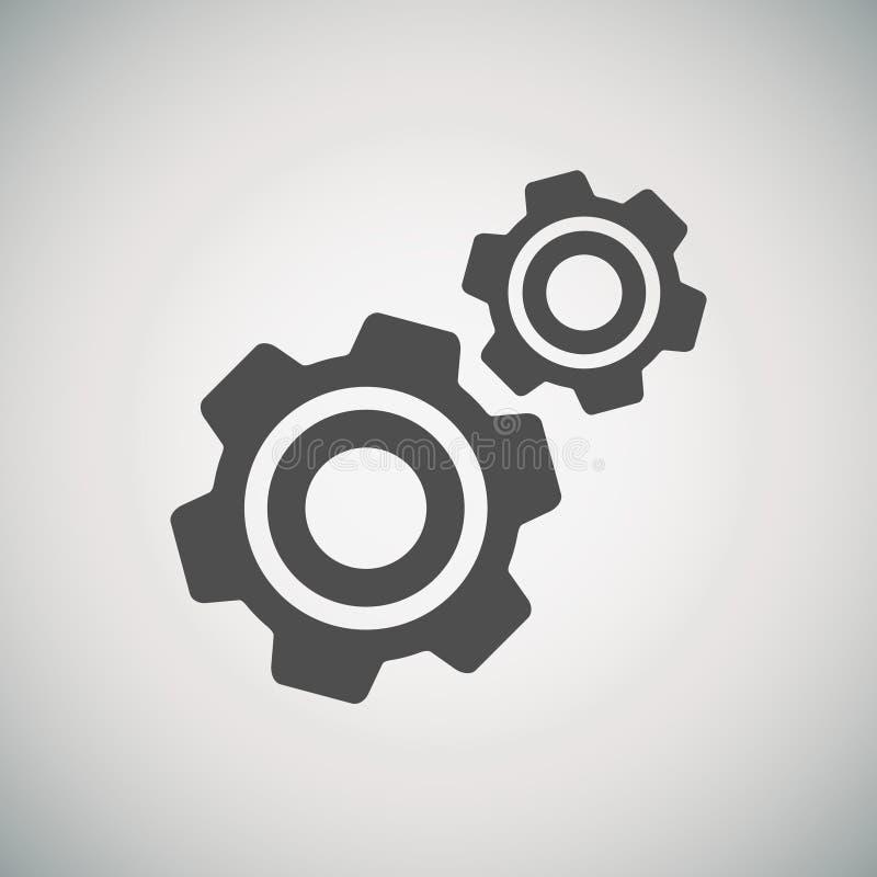 Kugghjul och utvecklingssymbol vektor illustrationer