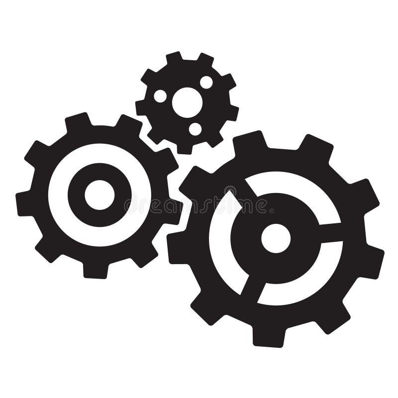 kugghjul tre vektor illustrationer