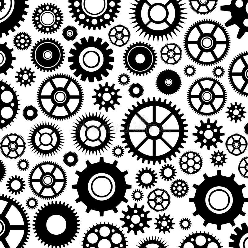 Kugghjulmodell vektor illustrationer