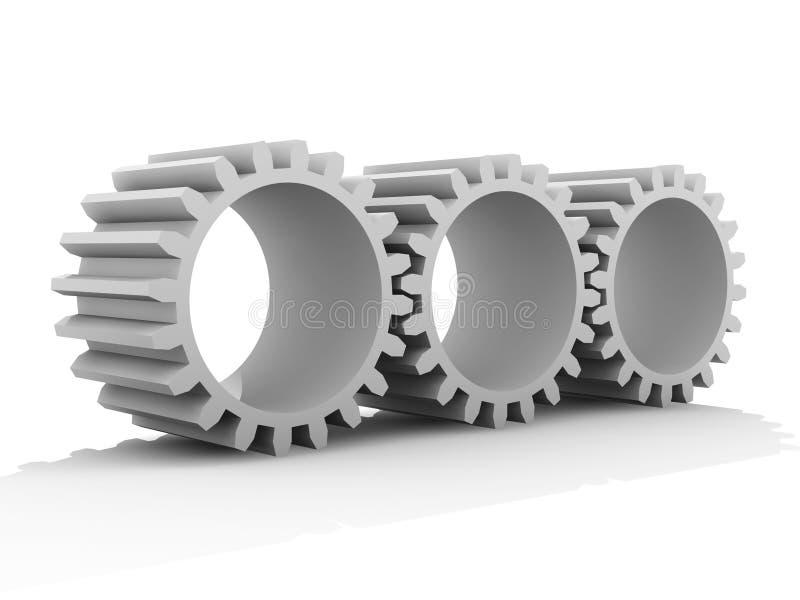 kugghjulplastik vektor illustrationer