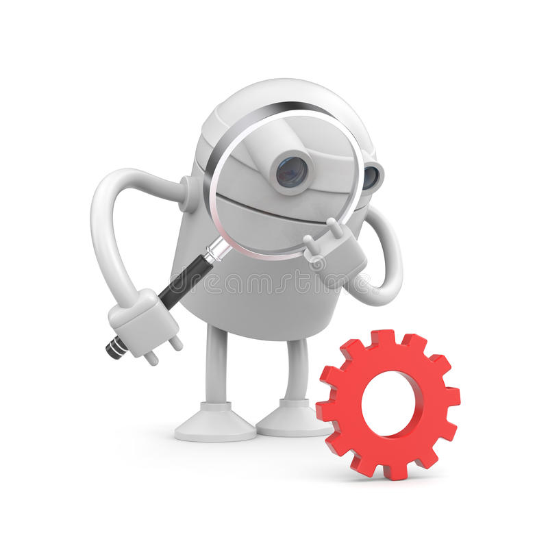 kugghjulrobot vektor illustrationer