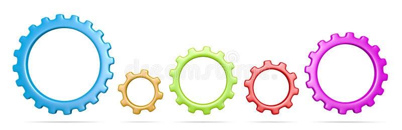 Kugghjulsamling vektor illustrationer