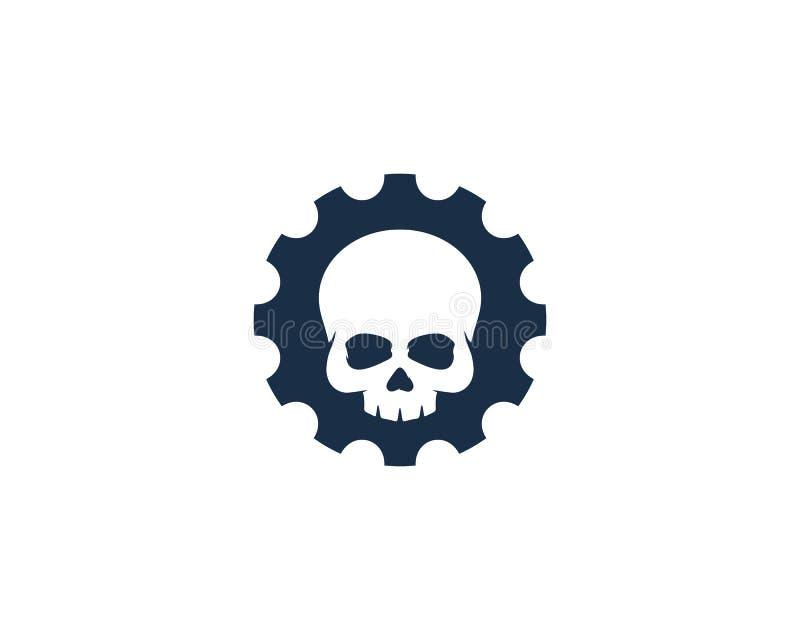Kugghjulsymbol Logo Design Element stock illustrationer