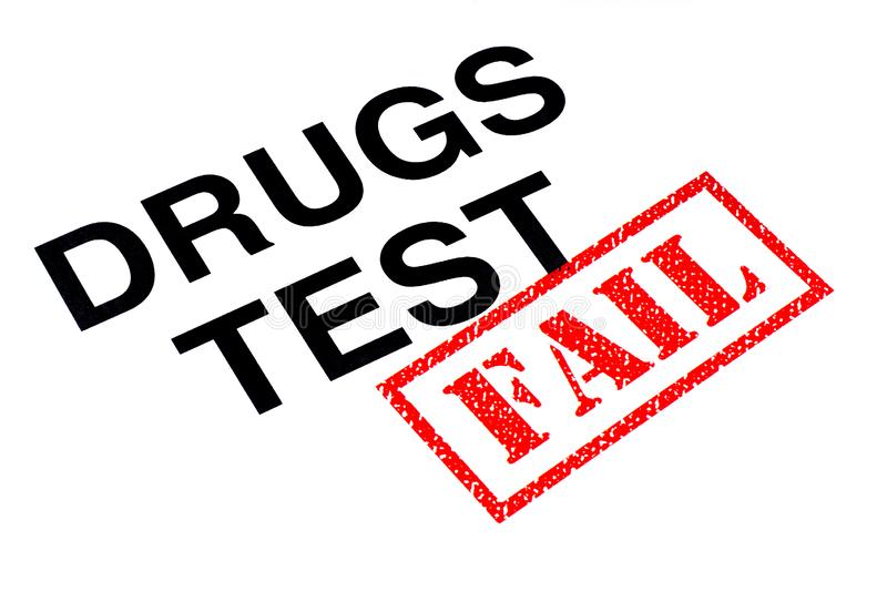 Kuggning för drogprov stock illustrationer