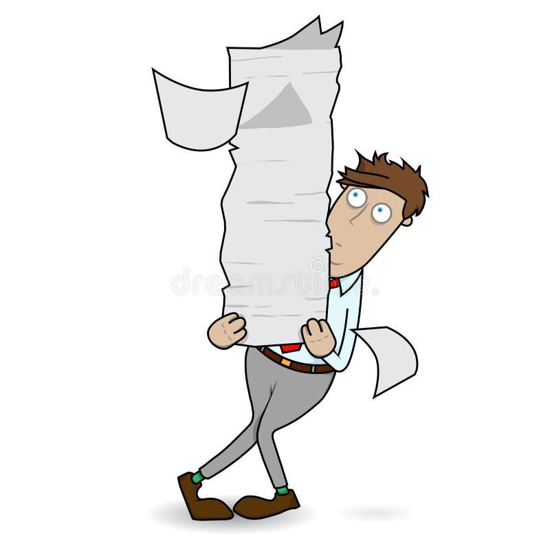 kuglarska papierkowa robota royalty ilustracja