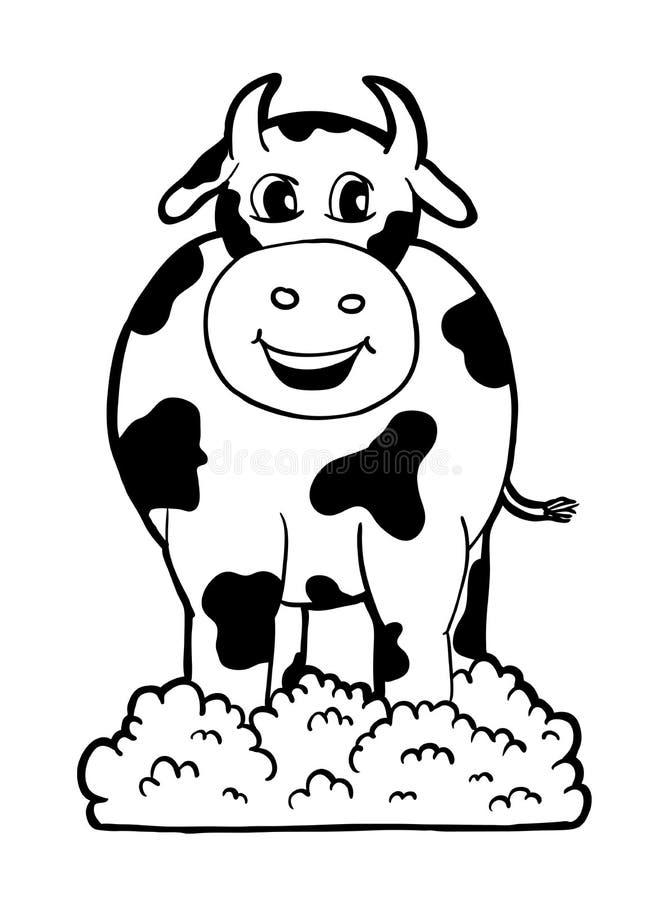 Kuh mit Lächeln stock abbildung
