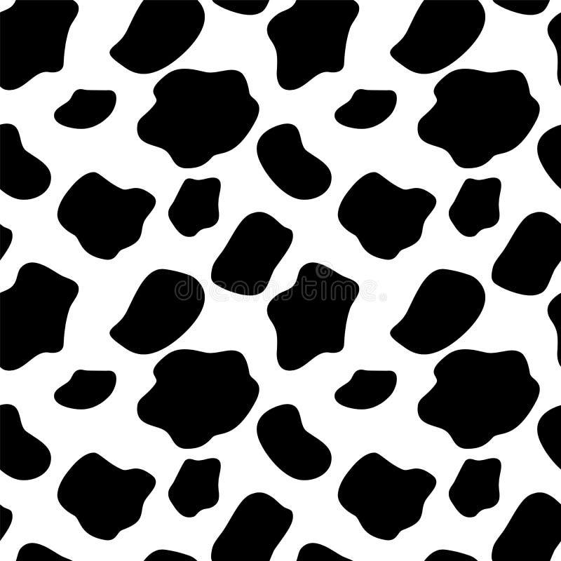 Kuh-nahtloser Muster-Hintergrund-Vektor vektor abbildung
