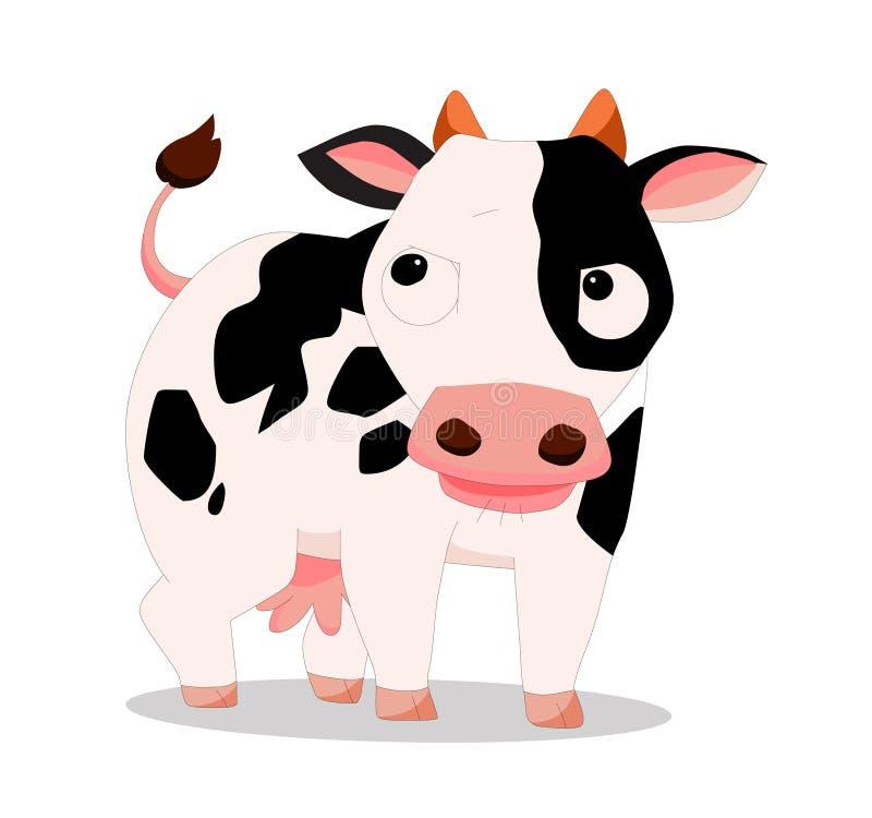 Kuh so nett lizenzfreie abbildung