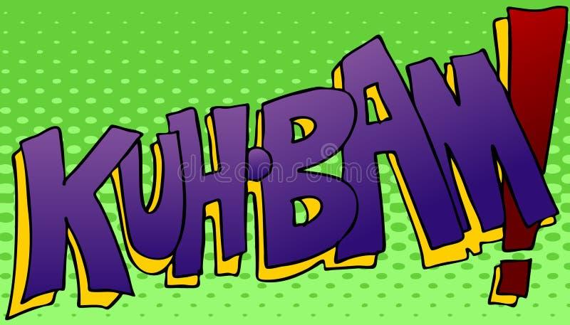 Kuhbam che colpisce suono royalty illustrazione gratis