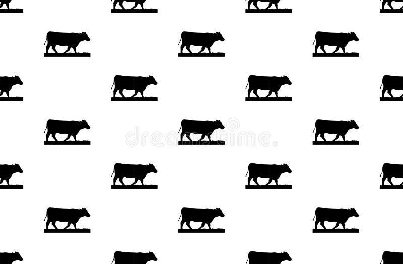 Kuhmuster auf weißem Hintergrund Kuhkunst auf weißem Hintergrunddesign lizenzfreie stockfotografie
