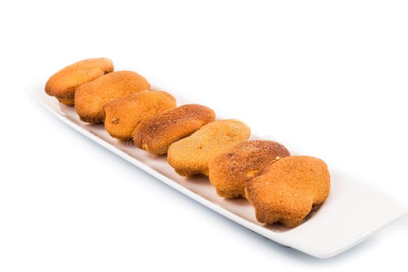 Kuih bahulu, popularna tradycyjna Malajska słodka gąbki babeczka zdjęcie stock