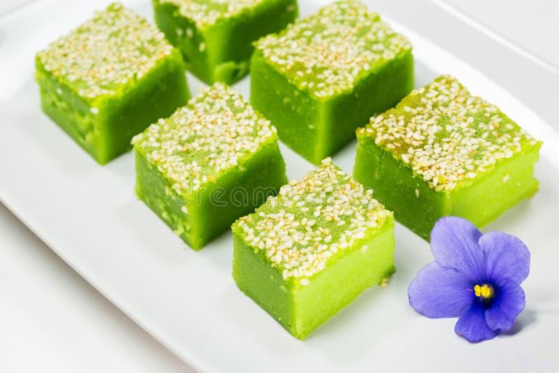 Kuih Bakar, sobremesa doce malaia II fotografia de stock