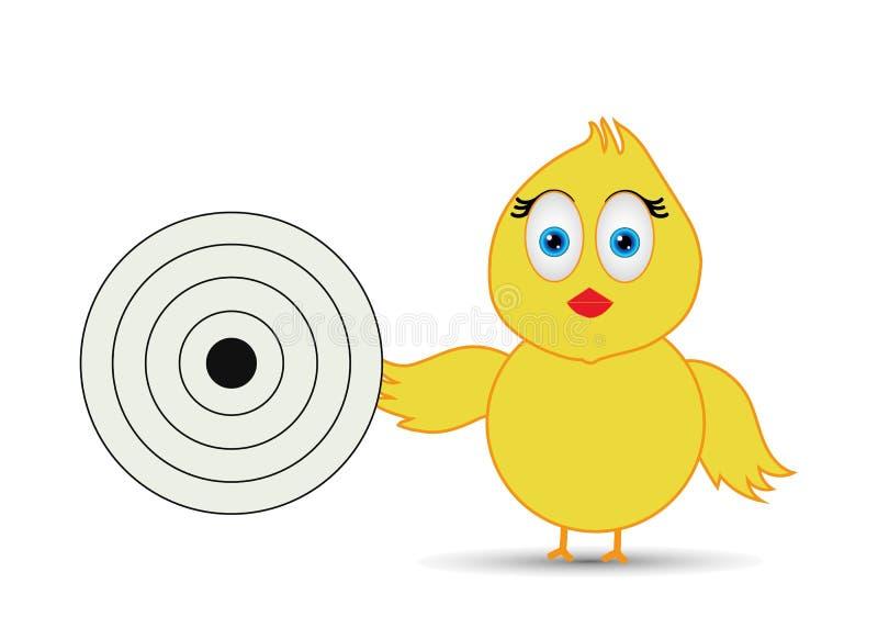 Kuiken - doel, die doelraad houden vector illustratie