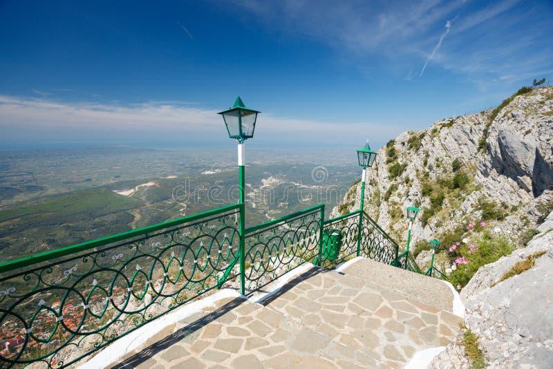 Kuja, Albania. View from the mountain royalty free stock photos