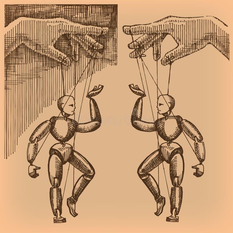 Kukła. Wektorowy format ilustracji