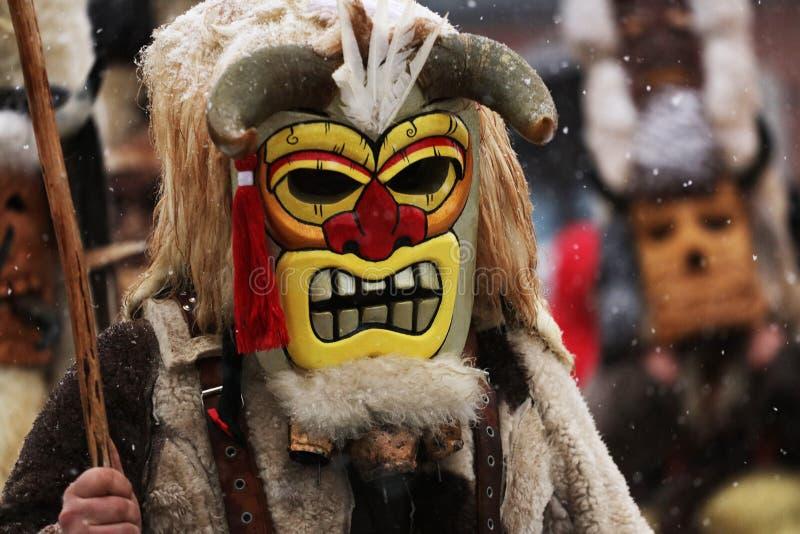 Kuker-Festival Breznik, Bulgarien, Festival der Maskerade-Spiele lizenzfreie stockbilder