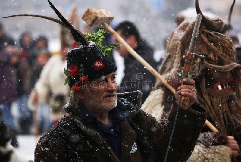 Kuker-Festival Breznik, Bulgarien, Festival der Maskerade-Spiele lizenzfreies stockfoto