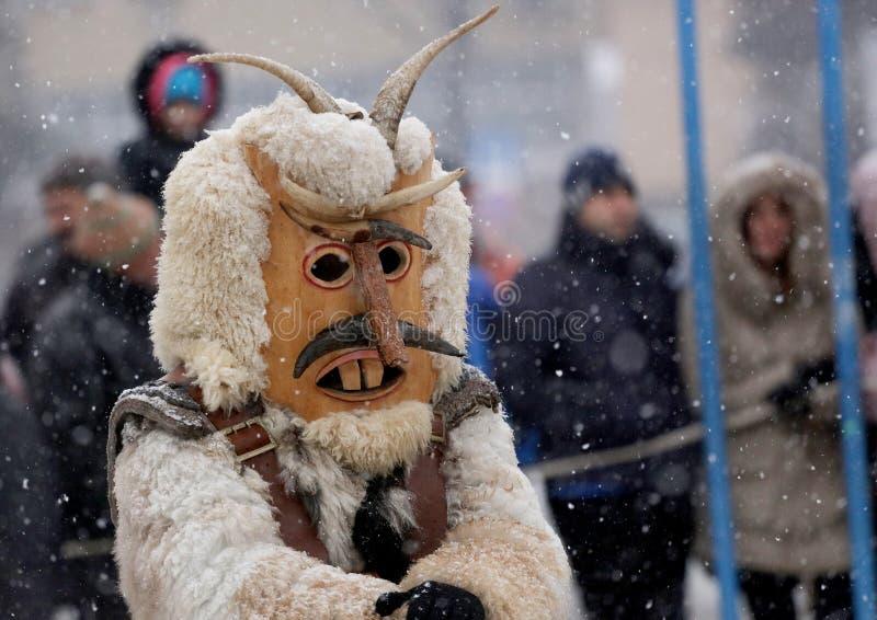 Kuker-Festival Breznik, Bulgarien, Festival der Maskerade-Spiele stockbild