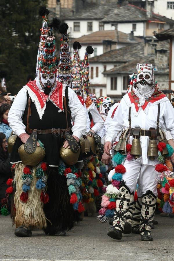 Kukeri i Shiroka Laka, Bulgarien fotografering för bildbyråer