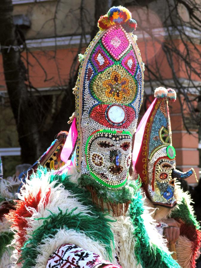 Kukeri karnaval in Bulgaria royalty free stock photo