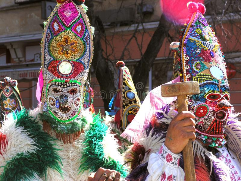 Kukeri karnaval in Bulgaria royalty free stock photography